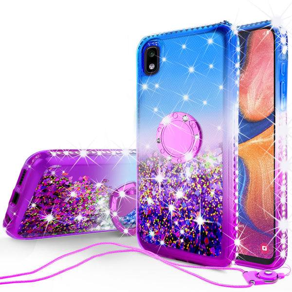glitter phone case for motorola moto e6 - blue/purple gradient - www.coverlabusa.com
