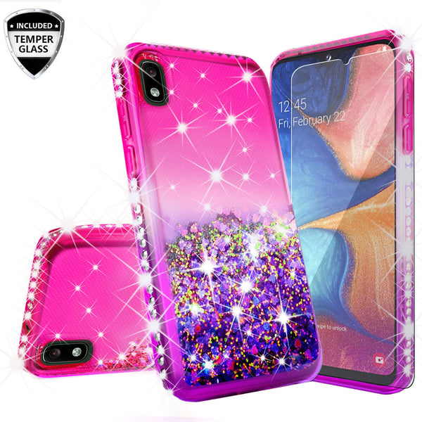 glitter phone case for motorola moto e6 - hot pink/purple gradient - www.coverlabusa.com