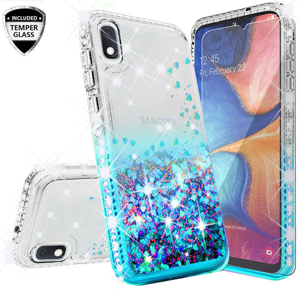 clear liquid phone case for samsung galaxy a10e - teal - www.coverlabusa.com