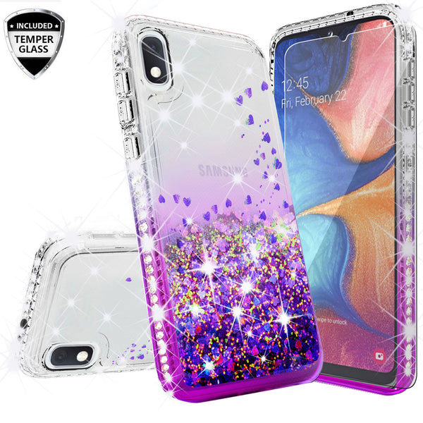 clear liquid phone case for samsung galaxy a10e - purple - www.coverlabusa.com