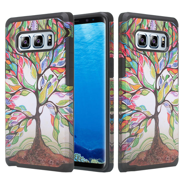 samsung galaxy note 8 hybrid case - vibrant tree - www.coverlabusa.com