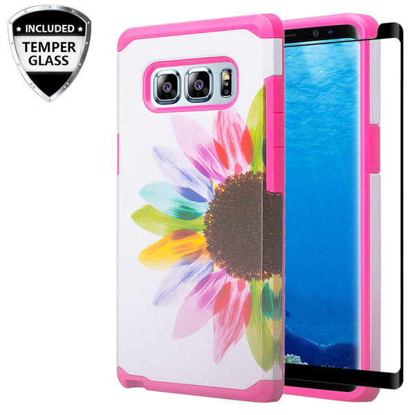 samsung galaxy note 8 hybrid case - vivid sunflower - www.coverlabusa.com