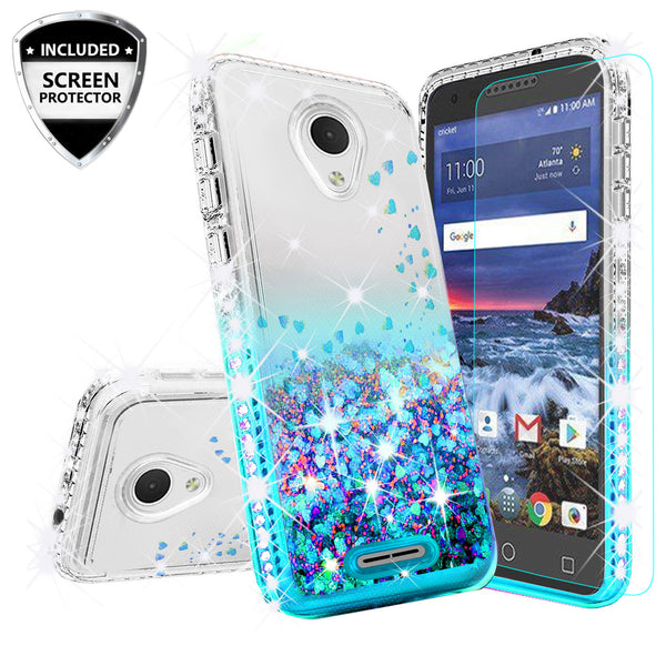 clear liquid phone case for alcatel verso - teal - www.coverlabusa.com
