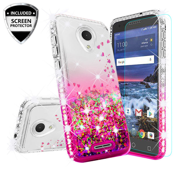 clear liquid phone case for alcatel verso - hot pink - www.coverlabusa.com