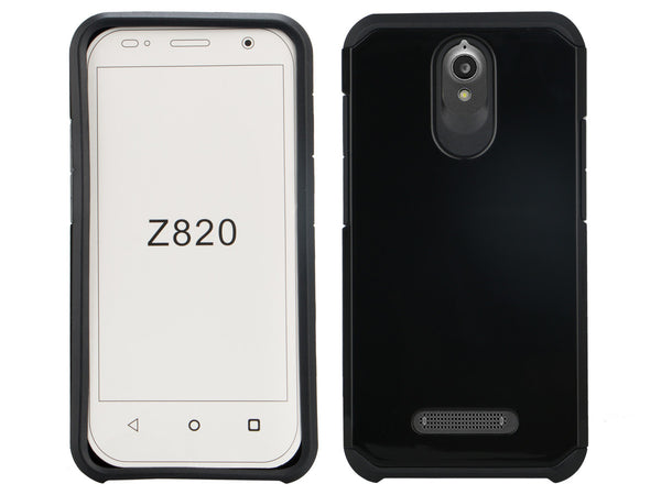 ZTE Obsidian Slim Hybrid Dual Layer Case - Black - www.coverlabusa.com