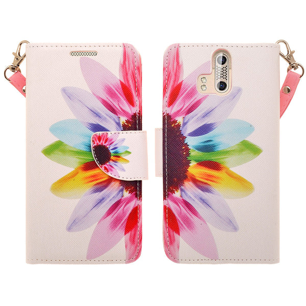 ZTE Axon Pro leather wallet case - vivid sunflower - www.coverlabusa.com
