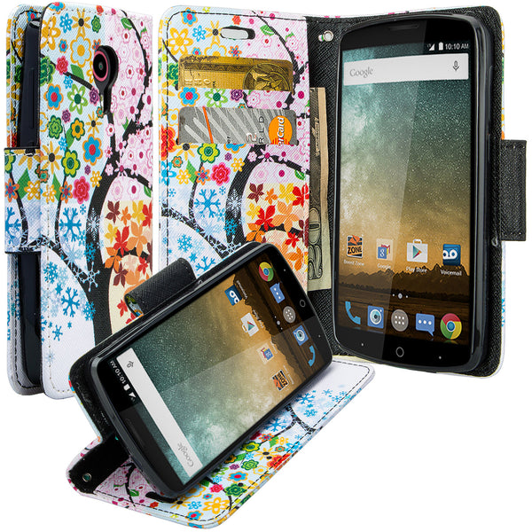 ZTE Ultra Case | ZTE Uhura | ZTE Quest Wallet Case - 4 Season Tree - www.coverlabusa.com