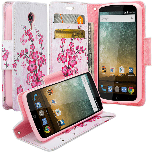 ZTE Ultra Case | ZTE Uhura | ZTE Quest Wallet Case - cherry blossom- www.coverlabusa.com