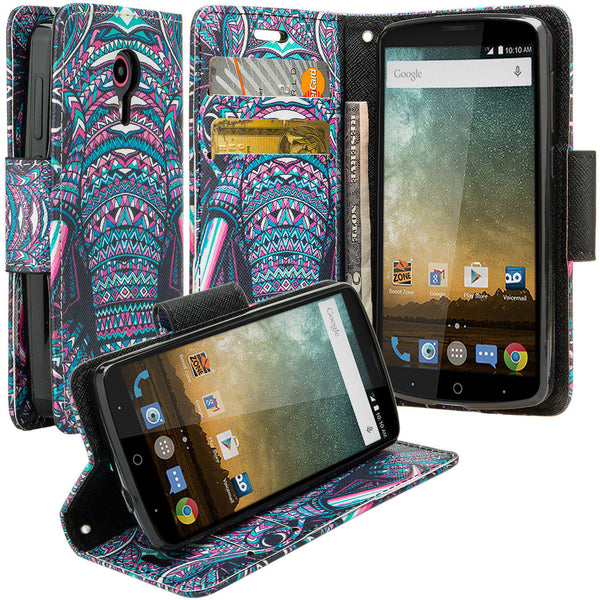 ZTE Ultra Case | ZTE Uhura | ZTE Quest Wallet Case - Tribal Elephant - www.coverlabusa.com