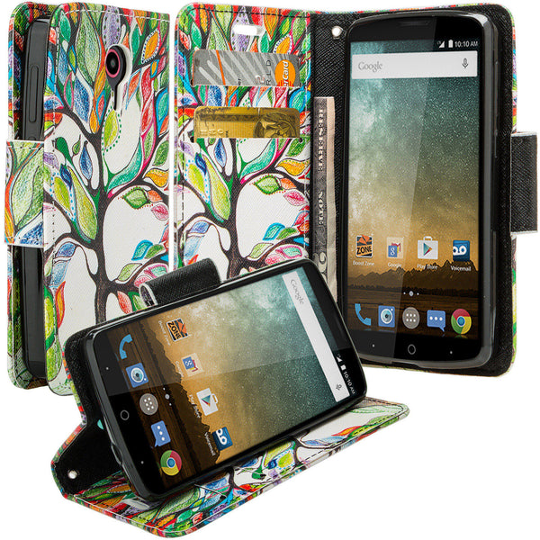 ZTE Ultra Case | ZTE Uhura | ZTE Quest Wallet Case - colorful tree - www.coverlabusa.com
