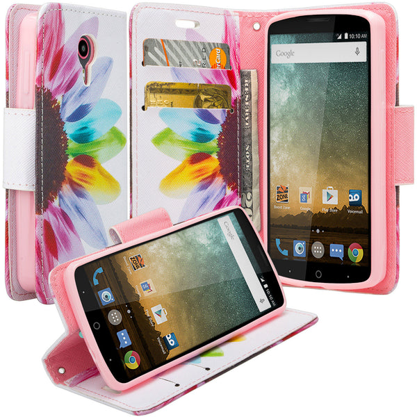 ZTE Ultra Case | ZTE Uhura | ZTE Quest Wallet Case - Vivid Sunflower - www.coverlabusa.com