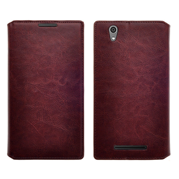 ZTE ZMAX leather wallet case - brown - www.coverlabusa.com