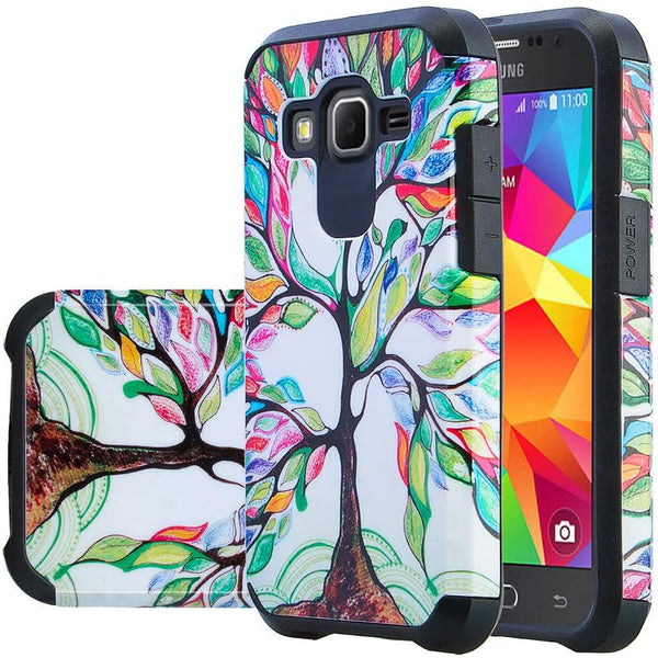 Samsung Core Prime Hybrid Protective Case Cover , WWW.COVERLABUSA.COM COLORFUL TREE