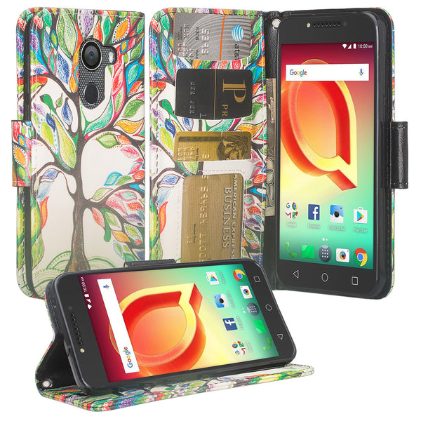 Alcatel A30 Plus Wallet Case - vibrant tree - www.coverlabusa.com