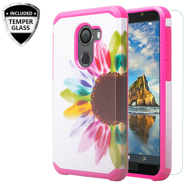 alcatel a30 plus hybrid case - vivid sunflower - www.coverlabusa.com