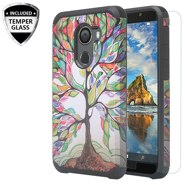 alcatel a30 plus hybrid case - vibrant tree - www.coverlabusa.com