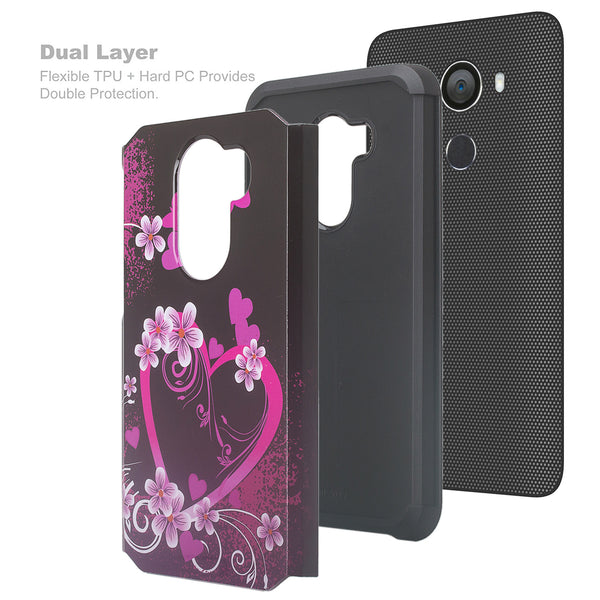 alcatel a30 plus hybrid case - heart butterflies - www.coverlabusa.com