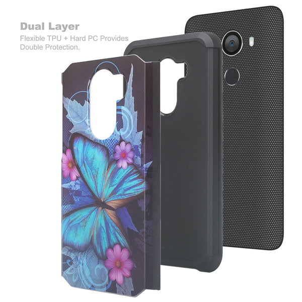 alcatel a30 plus hybrid case - blue butterfly - www.coverlabusa.com
