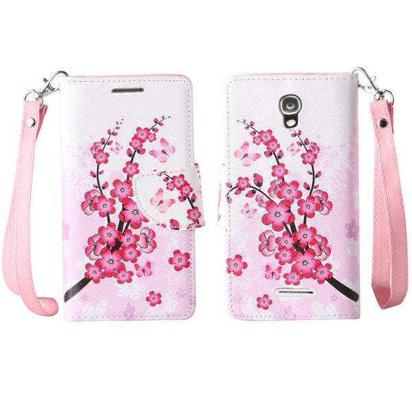 Alcatel OneTouch Elevate wallet case - Cherry Blossom - www.coverlabusa.com