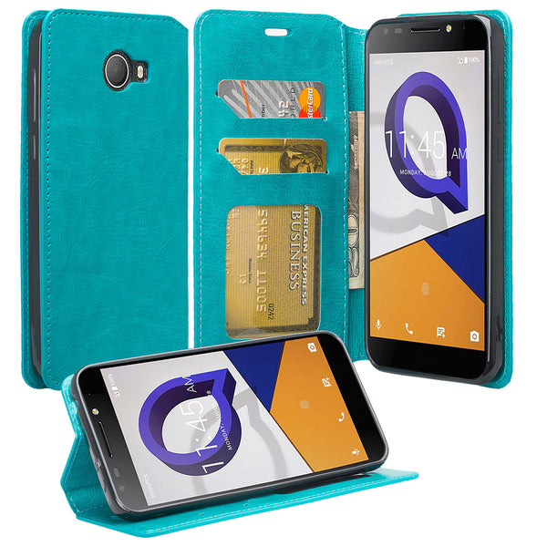 alcatel fierce xl2 wallet case - teal - www.coverlabusa.com
