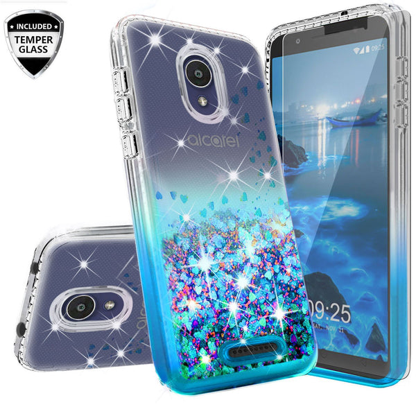 clear liquid phone case for alcatel insight - teal - www.coverlabusa.com