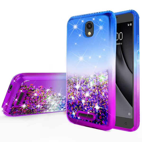 glitter phone case for alcatel insight - blue/purple gradient - www.coverlabusa.com