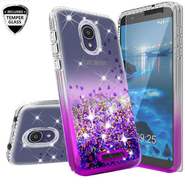 clear liquid phone case for alcatel insight - purple - www.coverlabusa.com