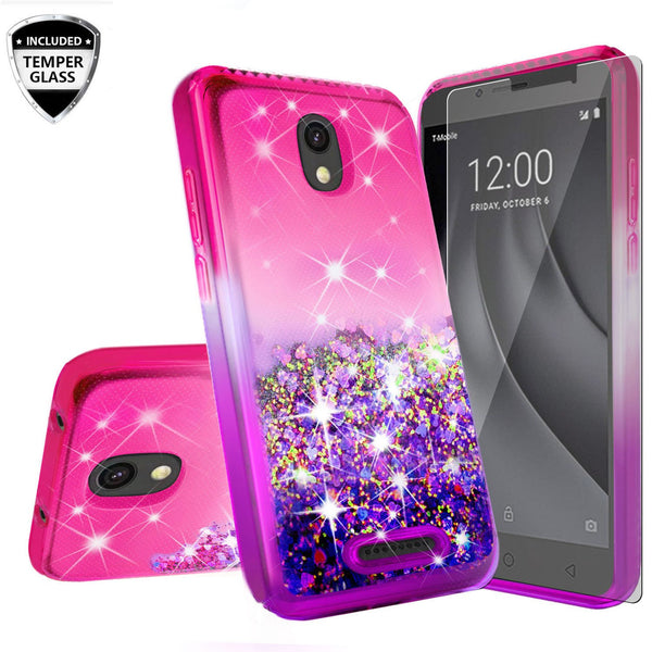 glitter phone case for alcatel insight - hot pink/purple gradient - www.coverlabusa.com