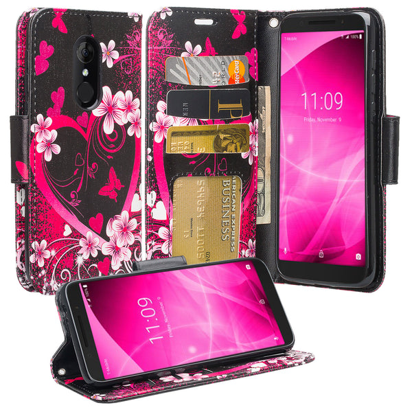 alcatel revvl 2 wallet case - heart butterflies - www.coverlabusa.com