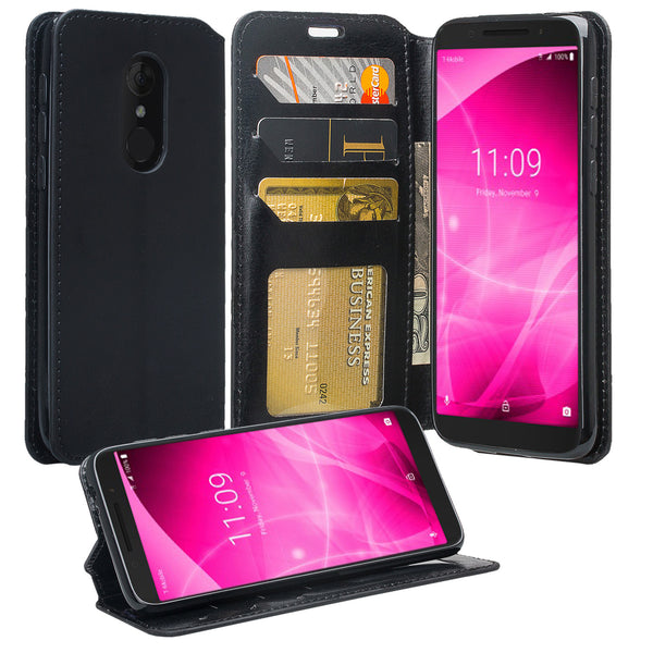 alcatel revvl 2 wallet case - black - www.coverlabusa.com