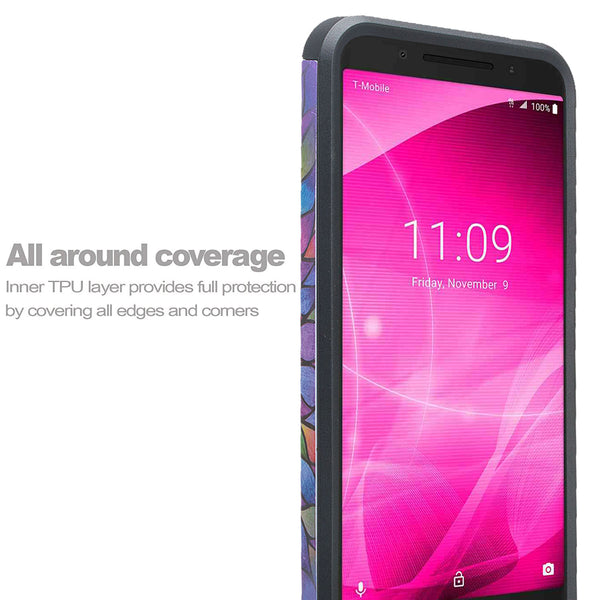 alcatel revvl 2 hybrid case - rainbow flower - www.coverlabusa.com