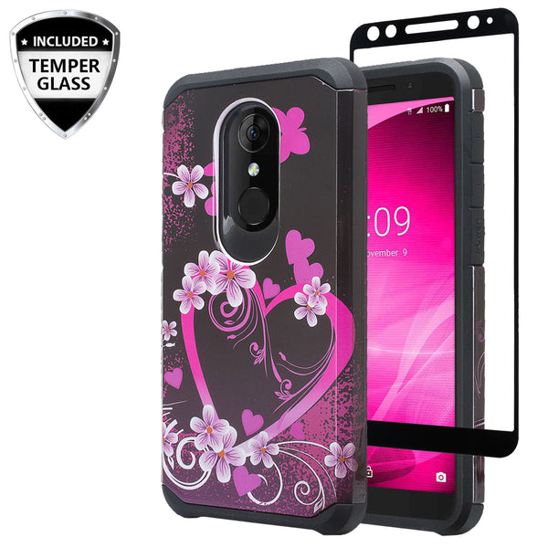 alcatel revvl 2 hybrid case - heart butterflies - www.coverlabusa.com
