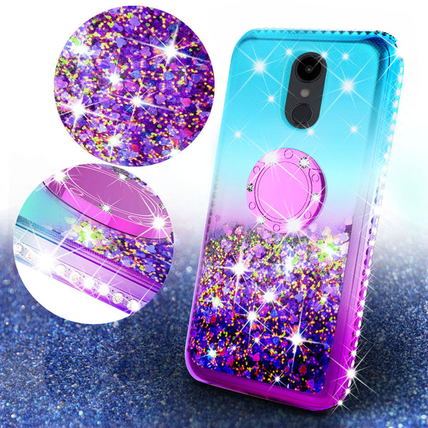 glitter ring phone case for alcatel revvl 2 - teal gradient - www.coverlabusa.com
