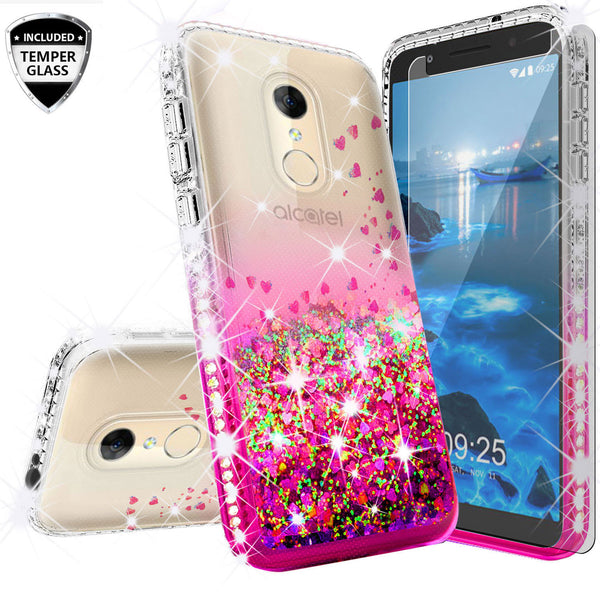 clear liquid phone case for alcatel revvl 2 - hot pink - www.coverlabusa.com