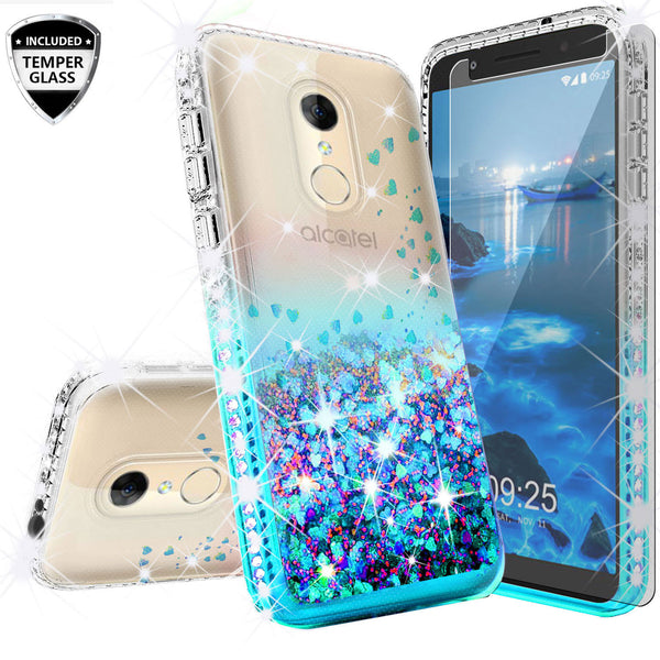 clear liquid phone case for alcatel revvl 2 - teal - www.coverlabusa.com