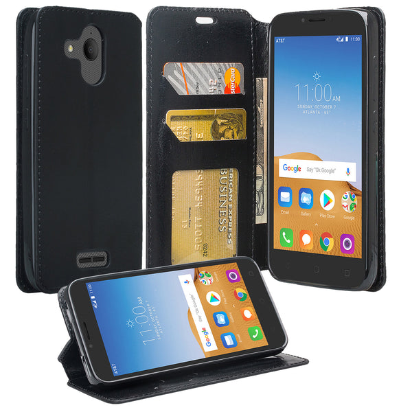 alcatel tetra wallet case - black - www.coverlabusa.com
