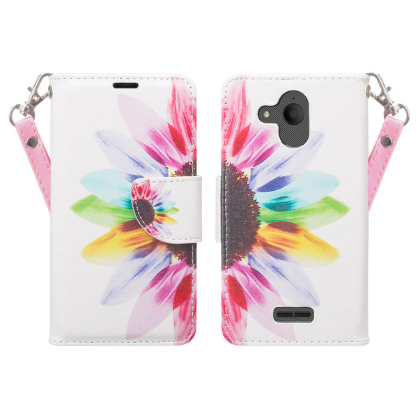 alcatel tetra wallet case - vivid sunflower - www.coverlabusa.com