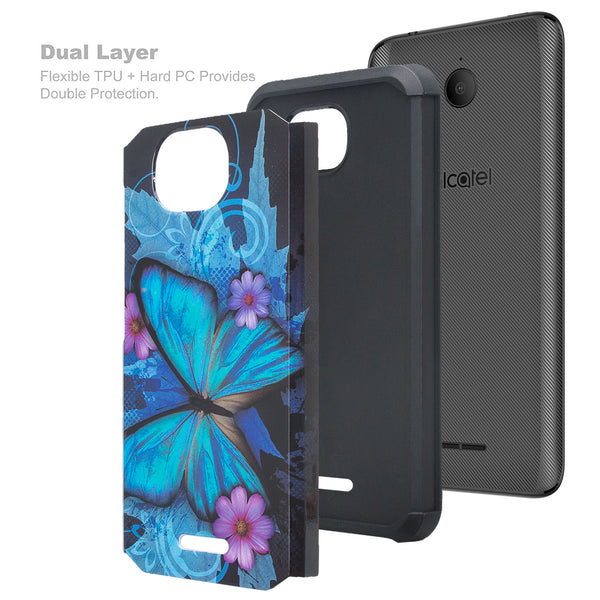 alcatel tetra hybrid case - blue butterfly - www.coverlabusa.com