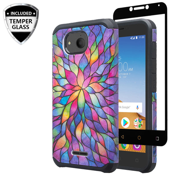 alcatel tetra hybrid case - rainbow flower - www.coverlabusa.com