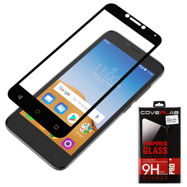 alcatel tetra screen protector tempered glass - black - www.coverlabusa.com