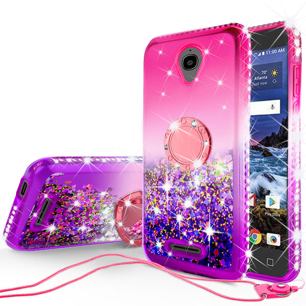 glitter ring phone case for alcatel verso - pink gradient - www.coverlabusa.com