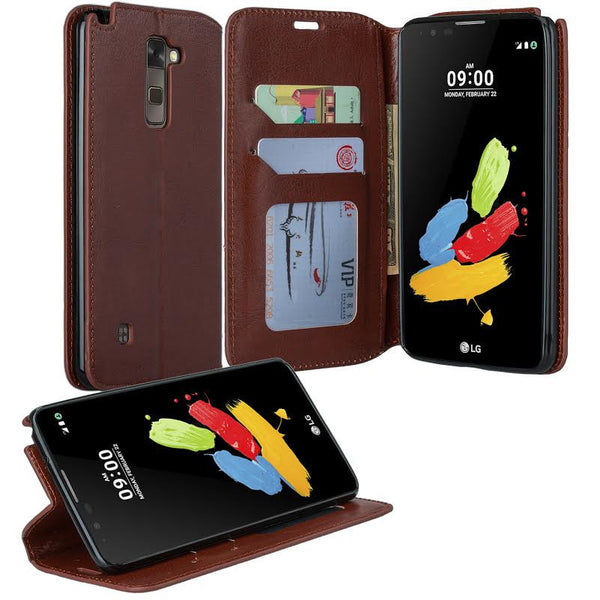 LG Stylo 2 Plus Wallet Case - brown - www.coverlabusa.com