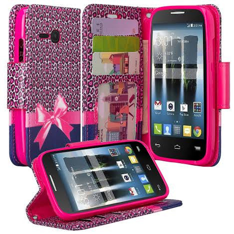 Alcatel Pixi Eclipse Wallet Case, Cheetah prints, WWW.COVERLABUSA.COM