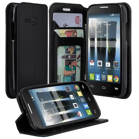 Alcatel Pixi Eclipse Wallet Case, Black, www.coverlabusa.com