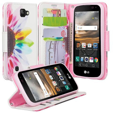 LG Optimus Zone 3 Cases | LG K4 Cases | LG Spree Cases | LG Rebel leather wallet case - vivid sunflower - www.coverlabusa.com