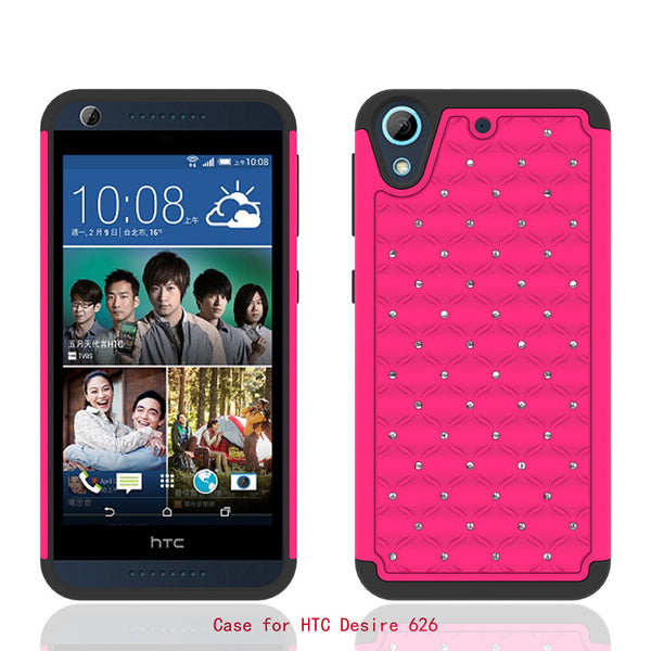 HTC Desire 626 Case - Hot Pink/Black - www.coverlabusa.com