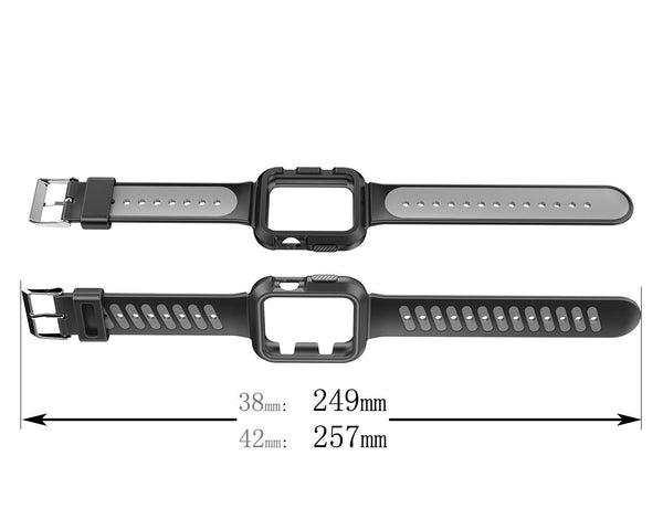 Nylon Sport Loop Replacement Strap for iWatch Apple Watch Series 3,Series 2, Series1,Hermes,Nike+- black+grey - www.coverlabusa.com