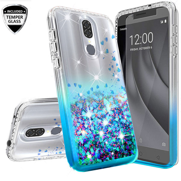 clear liquid phone case for nokia 3.1 plus - teal - www.coverlabusa.com