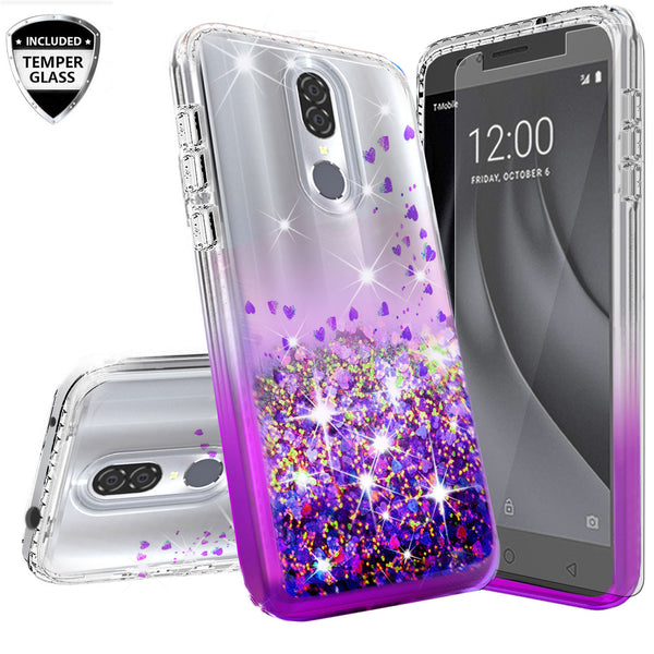 clear liquid phone case for coolpad legacy - purple - www.coverlabusa.com