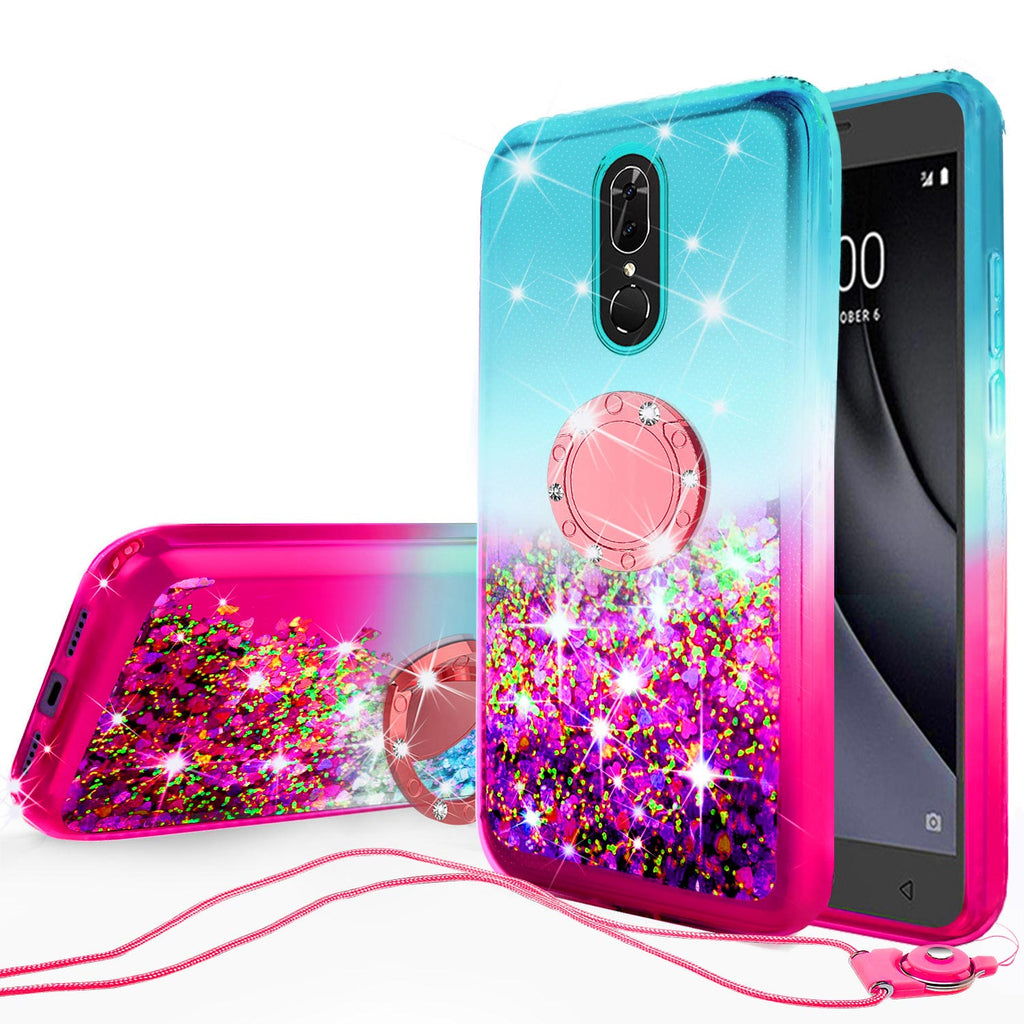 glitter phone case for coolpad legacy - teal/pink gradient - www.coverlabusa.com
